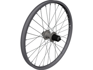 Rear Wheel 20 Inch CAD 3D Model