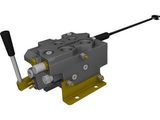 Spool Valve 12 Volt CAD 3D Model