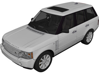 Range Rover Supercharged (2008) 3D Model