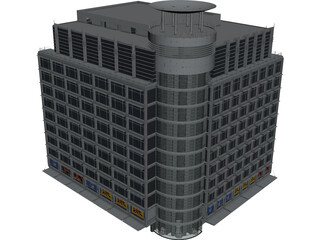 Departement Store of Modern Building 3D Model
