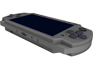 Sony PlayStation Portable Slim (2004) CAD 3D Model