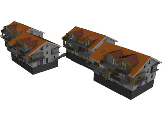Houses Buildings 3D Model