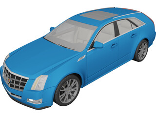 Cadillac CTS Sport Wagon (2010) 3D Model 3D Preview