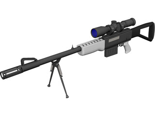 Rifle CAD 3D Model