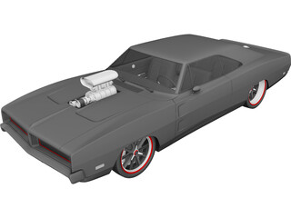 Dodge Charger Custom (1969) 3D Model