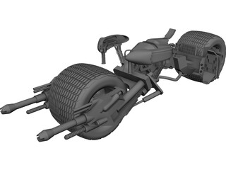 Batman The Dark Knight Batpod Motorcycle CAD 3D Model