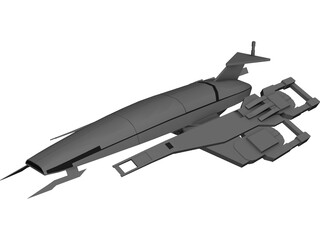 Mass Effect Normandy SSV SR1 3D Model