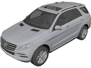 Mercedes-Benz ML 350 (2012) 3D Model