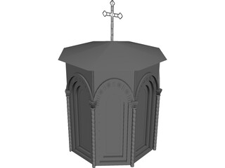 Church Tower 3D Model