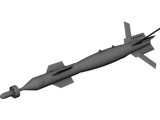 GBU-12 500lb Laser Guided Missile 3D Model