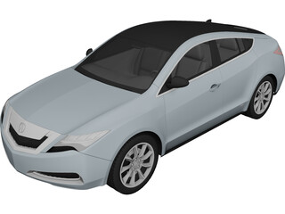 Acura ZDX (2010) 3D Model 3D Preview