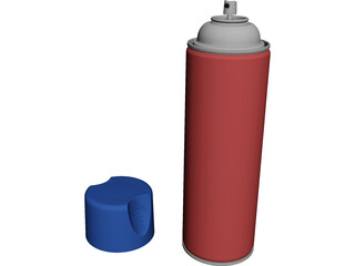Paint Can CAD 3D Model