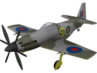 Martin Baker MB 5 3D Model 3D Preview