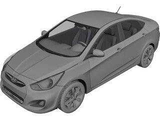 Hyundai Solaris 3D Model