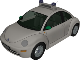 Volkswagen Beetle Police 3D Model 3D Preview