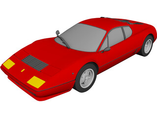 Ferrari 512BB Berlinetta Boxer 3D Model