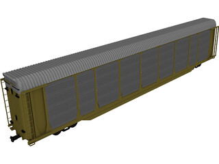 Railroad AutoCarrier 3D Model