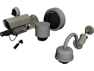 Security Cameras Set 3D Model