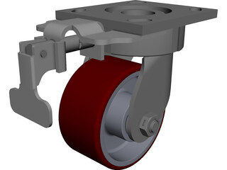 Caster Wheel 700 kg CAD 3D Model