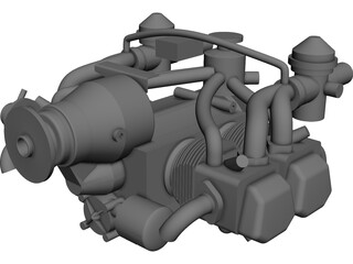 Rotax 912 Engine CAD 3D Model