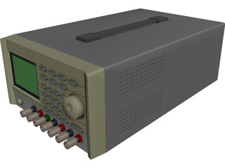 Instek Power Supply CAD 3D Model