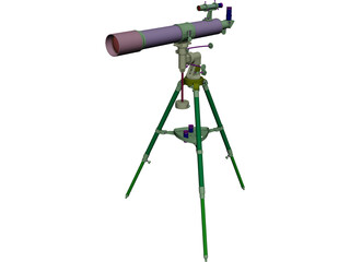 Bresser R-80 Telescope 3D Model