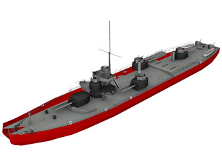 River Monitor Russian 3D Model