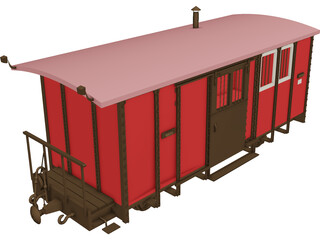 Post Wagon 3D Model