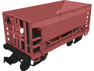 Union Pacific Wagon 3D Model