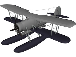 Fairey Swordfish 3D Model