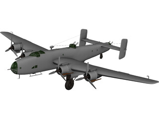 Handley Page Halifax B.III 3D Model