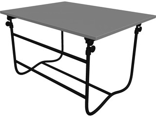 Table Drafting 3D Model
