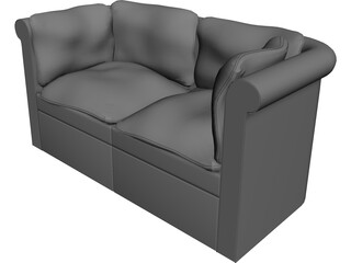 Couch Traditional 3D Model