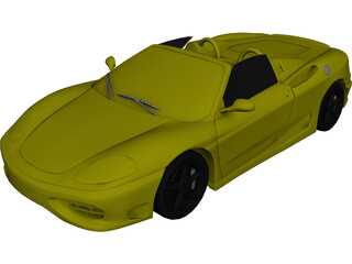 Ferrari 360 Spyder (2000) 3D Model 3D Preview