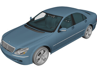 Mercedes-Benz S-class (2003) 3D Model