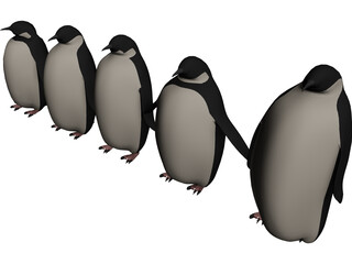 Penguins 3D Model