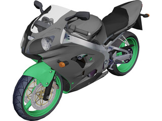 Kawasaki ZX9 3D Model 3D Preview