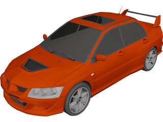Mitsubishi Lancer Evolution VIII (2003) 3D Model