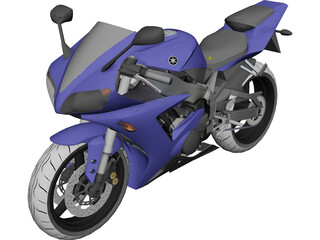 Yamaha R1 (2002) 3D Model 3D Preview