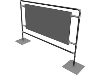 Graphics Display Panel 3D Model