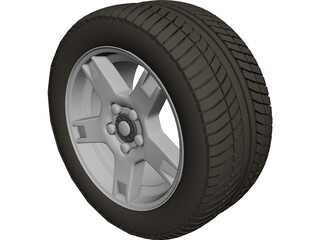 Wheel Chevrolet Corvette 3D Model