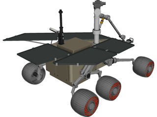 Athena Mars Rover 3D Model 3D Preview