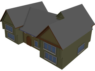 House Country English 3D Model