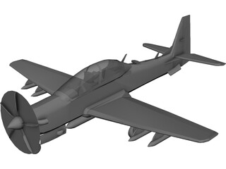 Embraer EMB 314 Super Tucano 3D Model