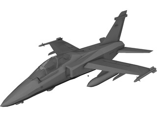 Embraer AMX-T Two Seat Trainer 3D Model