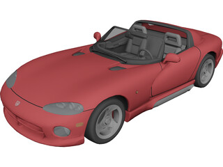 Chrysler Viper RT10 3D Model