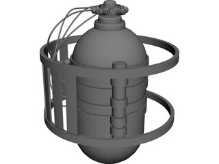 Container Satellite 3D Model