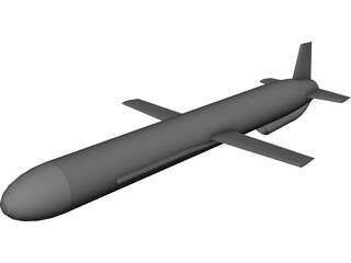 Russian AS-15 Air-Launched Cruise Missile (ALCM) 3D Model
