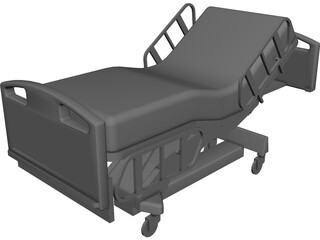 Bed Hospital Incline 3D Model