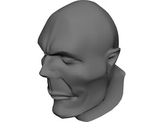 Head Hooligan-Like Uman 3D Model